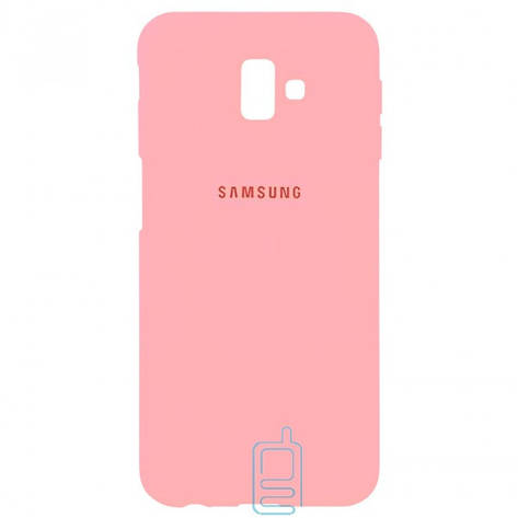 Чехол Silicone Case Full Samsung J6 Plus 2018 J610 розовый, фото 2