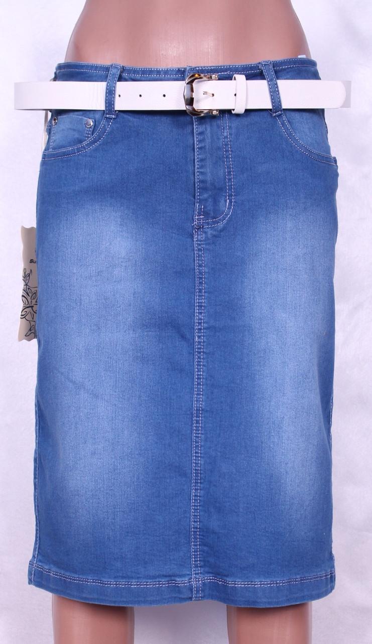 Модная юбка длинной до колена