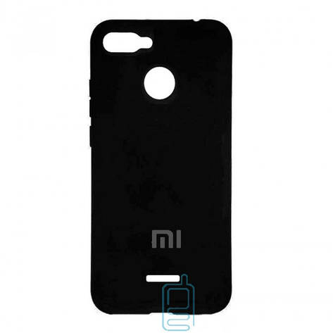 Чехол Silicone Case Full Xiaomi Redmi 6 черный, фото 2