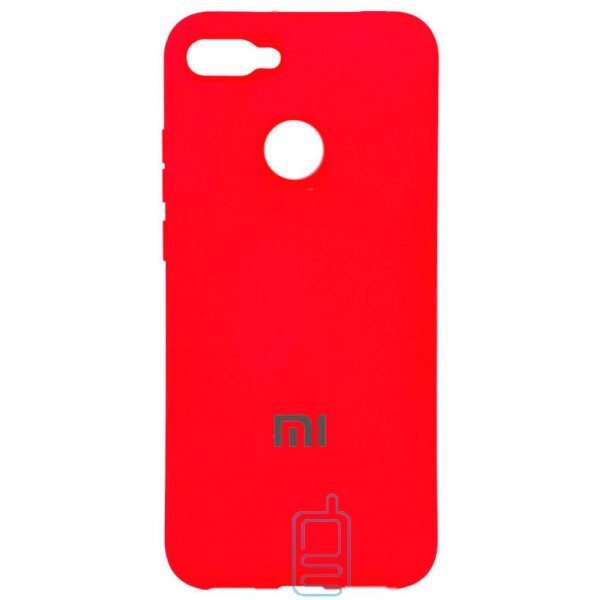 Чехол Silicone Case Full Xiaomi Mi 8 Lite красный