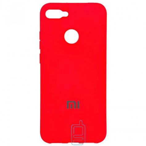 Чехол Silicone Case Full Xiaomi Mi 8 Lite красный, фото 2