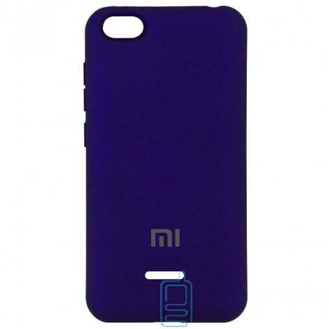 Чехол Silicone Case Full Xiaomi Redmi 6A фиолетовый, фото 2