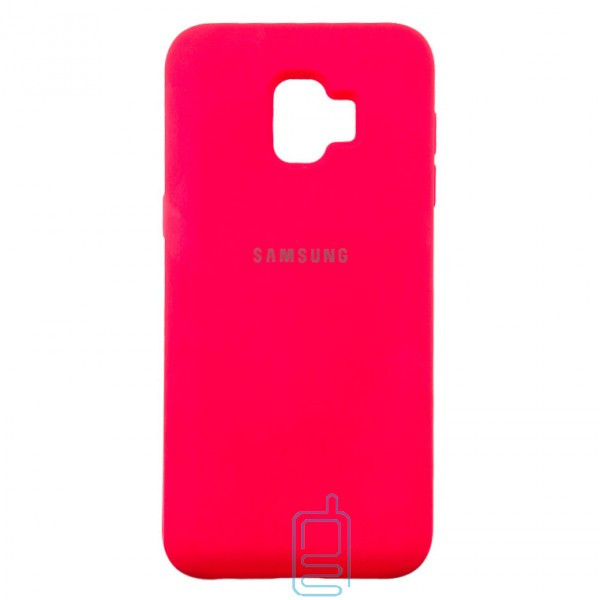 Чехол Silicone Case Full Samsung J2 Core 2018 J260 малиновый