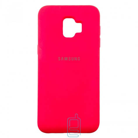 Чехол Silicone Case Full Samsung J2 Core 2018 J260 малиновый, фото 2