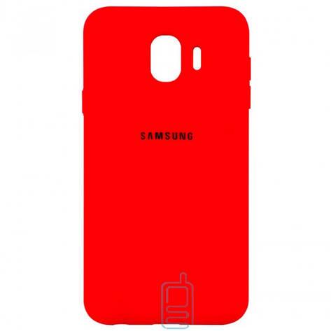 Чехол Silicone Case Full Samsung J4 2018 J400 красный, фото 2