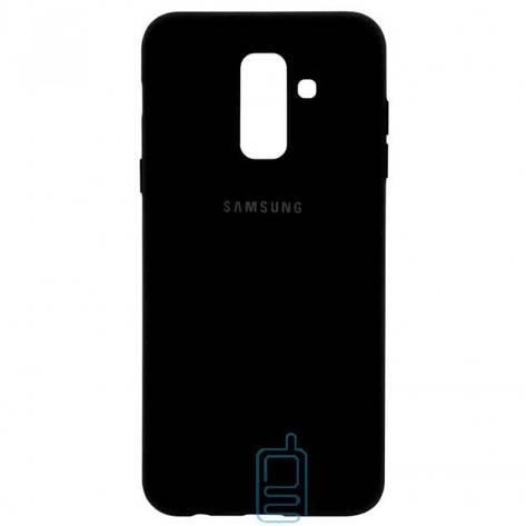 Чехол Silicone Case Full Samsung A6 Plus 2018 A605 черный, фото 2