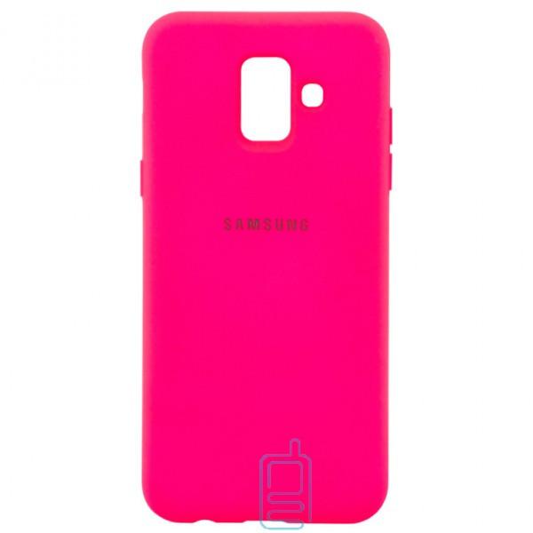 Чехол Silicone Case Full Samsung A6 2018 A600 малиновый