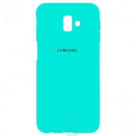 Чехол Silicone Case Full Samsung J6 Plus 2018 J610 бирюзовый, фото 2