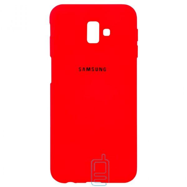 Чехол Silicone Case Full Samsung J6 Plus 2018 J610 красный