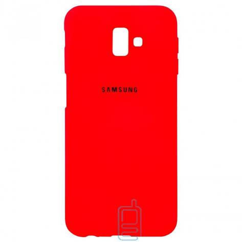Чехол Silicone Case Full Samsung J6 Plus 2018 J610 красный, фото 2