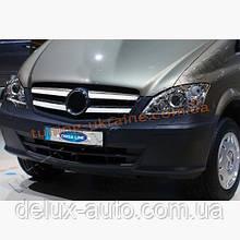 Накладки на решетку радиатора широкие 4шт Carmos на Volkswagen Golf 5 2003-2008