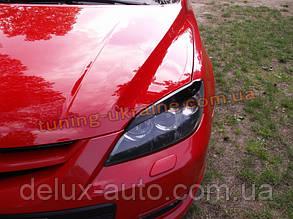 Реснички на фары для Mazda 3 2003-2009 хэтчбек