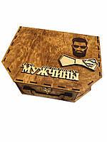 Деревянная подарочная коробка чемодан 29/22/10 см CraftBoxUA