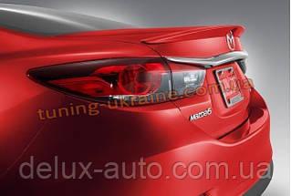 Спойлер-сабля из АБС пластика на Mazda 6 2012
