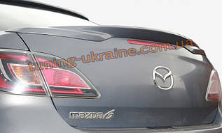 Спойлер-сабля из стеклопластика на Mazda 6 2012