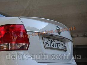 Спойлер-сабля из АБС пластика на Volkswagen Polo 5 2009-2015 седан