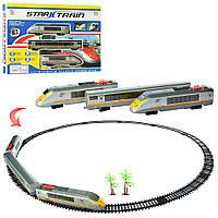 ЖД 1801B-3 (24шт) локомотив 23см, 1:87, вагон, 21дет, зв, свет, едет,на бат-ке, в кор,51-36-5,5см