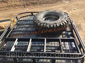 Экспедиционный багажник на ниву усиленный на 6 точек крепления с местами под лопату и хайджек на Ваз 2121 4x4