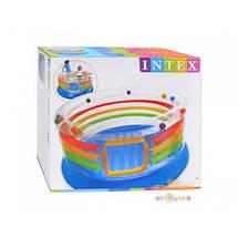 Надувной центр-батут INTEX 46264 игровой прозрачный круглый 182*86 см JUMP-O-LENE, фото 2