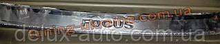 Накладка на задний бампер надпись гравировкой для Ford Focus 2011-2014 седан