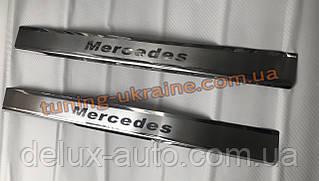 Хром накладки на пороги на короб для Mercedes Vito W640 2015+