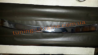 Накладка на задний бампер с резинкой надпись гравировка для Mitsubishi ASX 2012+