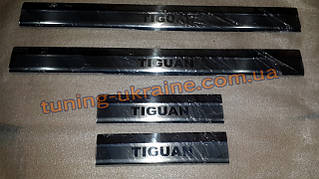 Хром накладки на пороги для Volkswagen Tiguan 2015+