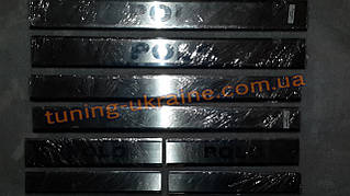 Хром накладки на пороги для Volkswagen Polo 5 2009-2015 хэтчбек