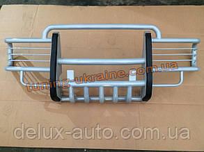 Кенгурятник с защитой фар и картером из метала на Ваз 2121 Нива 4х4 URBAN 2013+