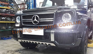 Защита переднего бампера на Mercedes G klass W463 1986-2016