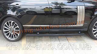 Боковые площадки с выездным механизмом на Mercedes GL  GLS klass X166 2012+