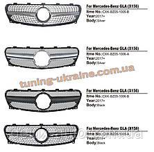 Передняя решетка Diamond на Mercedes GLA X156 2017+