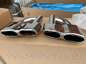 Насадки на глушитель AMG S65 на Mercedes S-klass W221 2005-2013