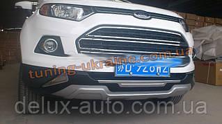 Передняя накладка на бампер губа на Ford EcoSport 2012+ гг.