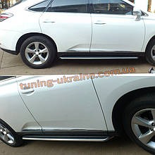 Боковые подножки Оригинал V1 на Lexus RX 2012-2015 гг.
