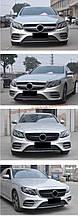 Передняя решетка Diamond V1 на авто без места под камеру на Mercedes E-klass W213 2016+