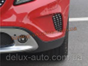 Решетки в бампер на Mercedes GLA X156 2013 +