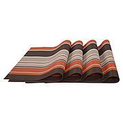 Комплект из 4-х сервировочных ковриков, оранжевый