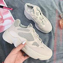 Кроссовки женские Adidas Yeezy 500 Desert Rat Blush (реплика) (13-017) ⏩ [ 37.37,39 ]