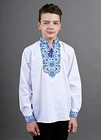 Рубашка вышиванка для мальчика Полковник ,синяя 152 см