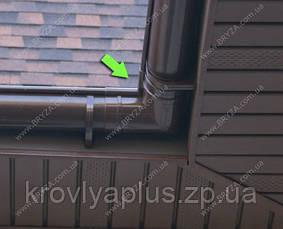 Водосточная сисиема BRYZA 125 Угол внутренний 90 гр.красный, фото 3