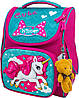 Рюкзак ранец Winner stile 2028 для девочек каркасный в школу для 1-4 классов 26 х14 х 34 см