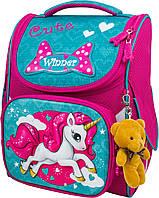 Рюкзак ранец Winner stile 2028 для девочек каркасный в школу для 1-4 классов 26 х14 х 34 см, фото 1