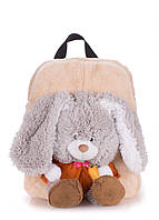 Детский рюкзак PoolParty с зайчиком бежевый