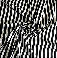 Трикотажная ткань в полоску хлопок с начёсом