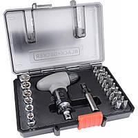 Набор инструментов BLACK&DECKER биты, головки, фонарик 30 предм. (A7224)