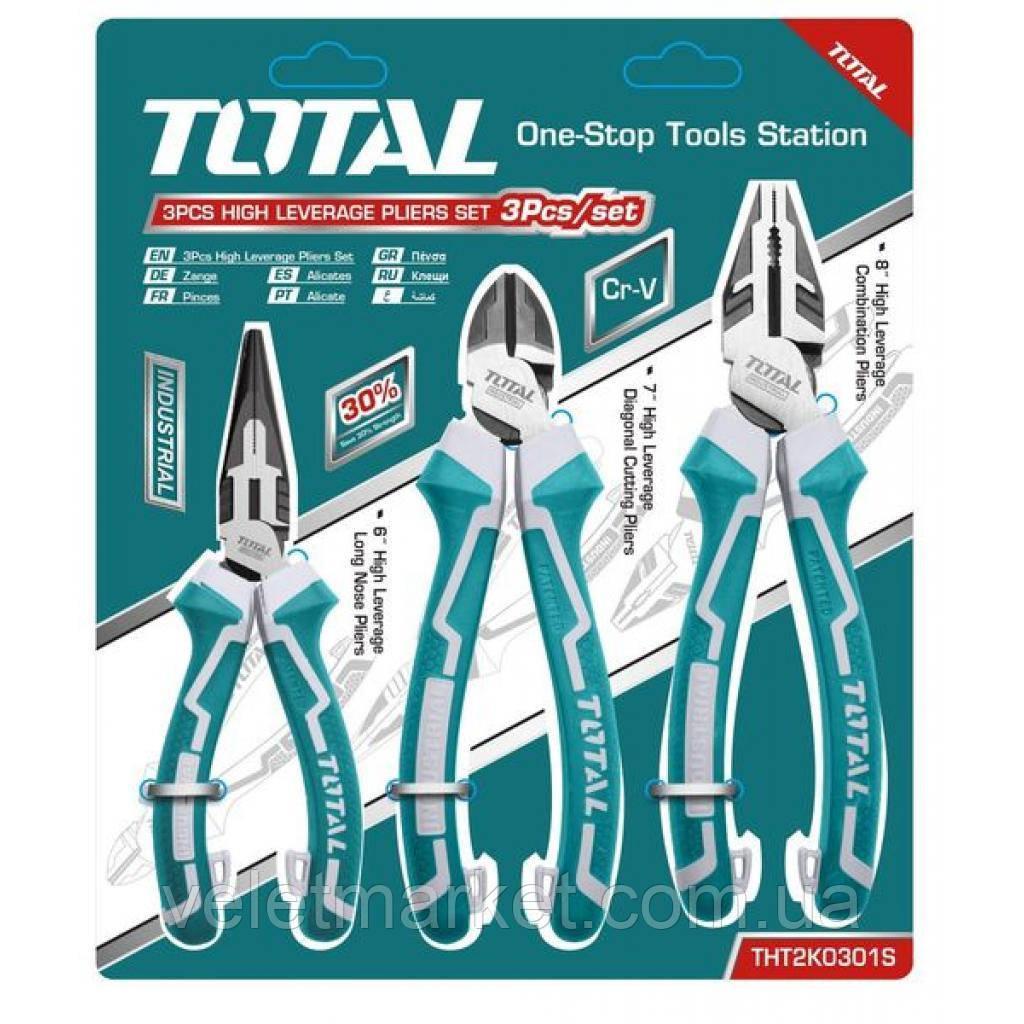 Набор инструментов TOTAL шарнирногубцевого инструмента 3шт. (THT2K0301S)