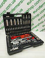 """Набор инструмента """"Intertool 1/4"""",1/2"""" ET-6108 black"""" (108 единиц)."""