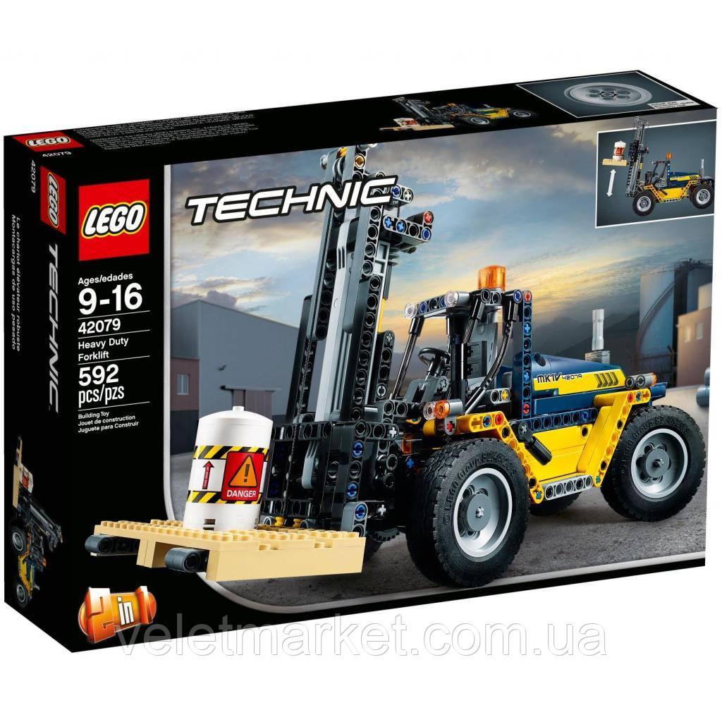 Конструктор LEGO TECHNIC Сверхмощный вилочный погрузчик 592 детали (42079)