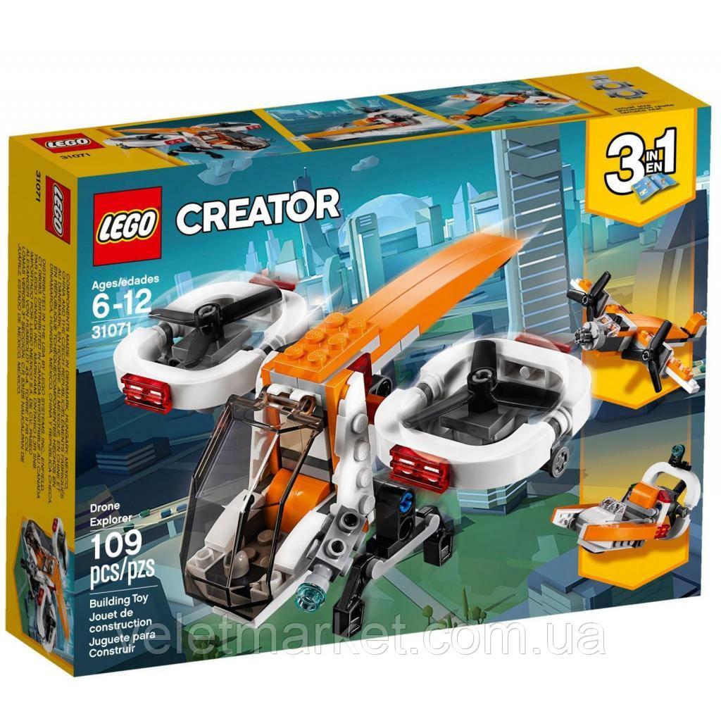 Конструктор LEGO Исследовательский дрон 109 деталей (31071)